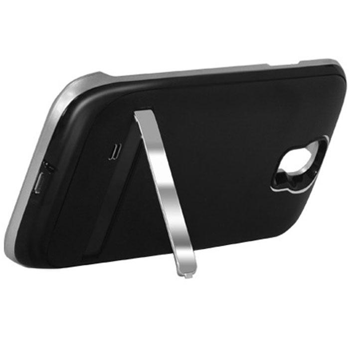 EXEQ HelpinG-SC07 чехол-аккумулятор для Samsung Galaxy S4, Black (2600 мАч, клип-кейс)HelpinG-SC07 BLExeq HelpinG-SС07 – стильный и надежный аксессуар для Samsung Galaxy S4. Компактные размеры, элегантный дизайн и прочный материал корпуса позволят Exeq HelpinG-SС07 не только надежно защитит смартфон от ударов, грязи и царапин, но придадут телефону стильный внешний вид! Встроенный аккумулятор обеспечит смартфон своевременной подзарядкой в самые нужные моменты его использования. Специальная металлическая выдвижная подставка позволит удобно расположить телефон при просмотре видео, общении по Skype, чтении книг.Заряжать телефон можно не извлекая его из чехла, просто подключив адаптер смартфона к чехлу-аккумулятору и нажав кнопку питания на чехле (если кнопку не нажимать, то будет происходить зарядка аккумулятора чехла). Также Exeq HelpinG-SС07 обеспечивает идеальную передачу данных при подключении смартфона к компьютеру или другому электронному устройству.