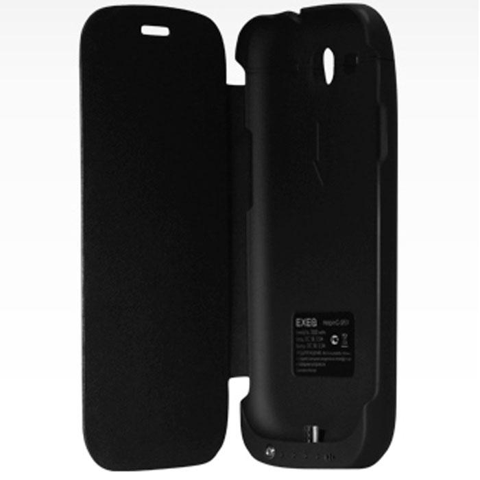 EXEQ HelpinG-SF01 чехол-аккумулятор для Samsung Galaxy S3, Black (3300 мАч, флип-кейс)HelpinG-SF01 BLExeq HelpinG-SF01 идеально сочетает в себе надежный чехол и дополнительный аккумулятор! Как чехол устройство прекрасно защитит ваш смартфон от загрязнений, царапин и ударов (при этом защищается не только задняя крышка телефона, но и дисплей). Как дополнительный аккумулятор HelpinG-SF01 обеспечит своевременную подзарядку вашему смартфону и продлит часы его работы как минимум в два раза, а при необходимости сможет подзарядить и другие электронные устройства благодаря USB-порту! Элегантный и лаконичный дизайн чехла придется по вкусу многим пользователям смартфонов Samsung, а наличие в корпусе чехла всех необходимых отверстий под камеру, кнопки и разъемы позволит не снимать чехол длительное время. Также в конструкции Exeq HelpinG-SF01 имеется специальная откидывающаяся подставка-ножка, которая позволит удобно расположить телефон для просмотра фильма, чтения или набора текста или видео-общения по Skype. Exeq HelpinG-SF01 – прекрасный выбор для самых активных пользователей смартфонов Samsung Galaxy S3 i9300.Зарядка чехла-аккумулятора происходит от зарядного устройства телефона, при этом аппарат из чехла доставать не нужно. Достаточно просто подсоединить зарядное к чехлу и зарядка начнется автоматически. Для зарядки телефона необходимо подсоединить зарядное устройство к чехлу и нажать на кнопку питания на чехле.