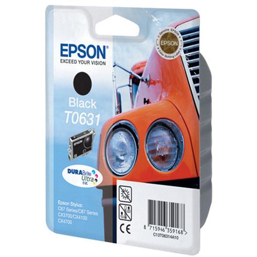 Epson T0631 (C13T06314A10), Black картридж для C67/C87/CX3700/CX4100/CX4700C13T06314A10Картридж Epson T063 с цветными чернилами для струйной печати.