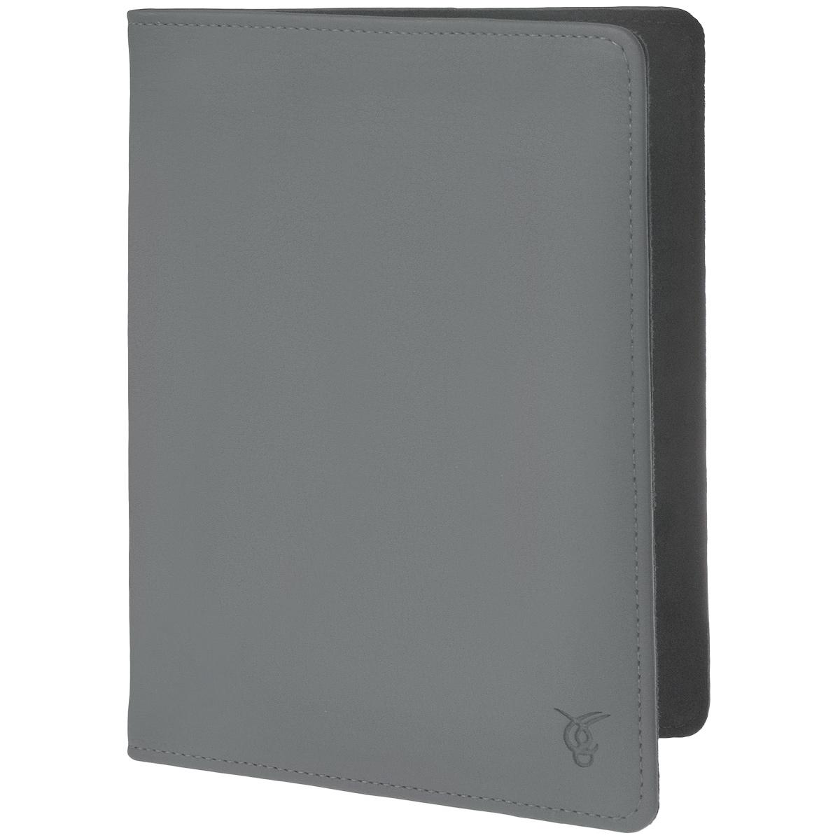 Vivacase Basic кожаный универсальный чехол-обложка для планшетов 8, Grey (VUC-CM008-gr)VUC-CM008-grТонкий чехол-обложка Viva Basic для планшетов 8 - прекрасный выбор для тех, что заботится не только о сохранности своего устройства, но и о стиле. Он изготовлен из качественной искусственной кожи, которая по своим характеристикам не уступает натуральной. Мягкая подкладка приятна на ощупь и предотвращает появление царапин на корпусе и дисплее. Крепление PVS позволяет надежно зафиксировать электронное устройство внутри. В закрытом положении чехол удерживает широкая резинка черного цвета.