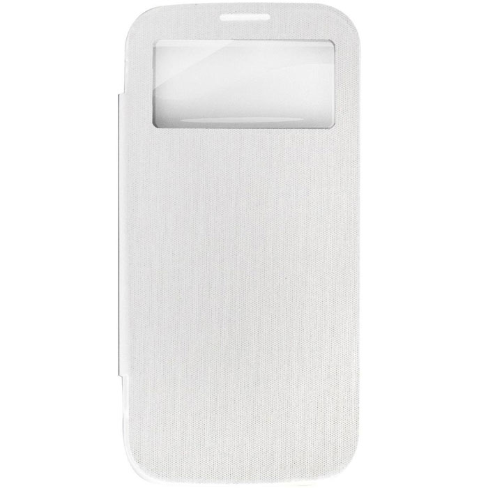 EXEQ HelpinG-SF08 чехол-аккумулятор для Samsung Galaxy S4, White (2600 мАч, Smart cover, флип-кейс) exeq helping sc02 чехол аккумулятор для samsung galaxy s4 white 3300 мач клип кейс