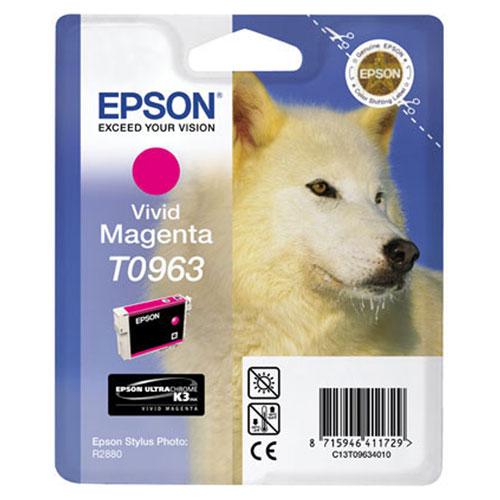 Epson T0963 (C13T09634010), Vivid Magenta картридж для R2880C13T09634010Картридж Epson с цветными чернилами для струйной печати.