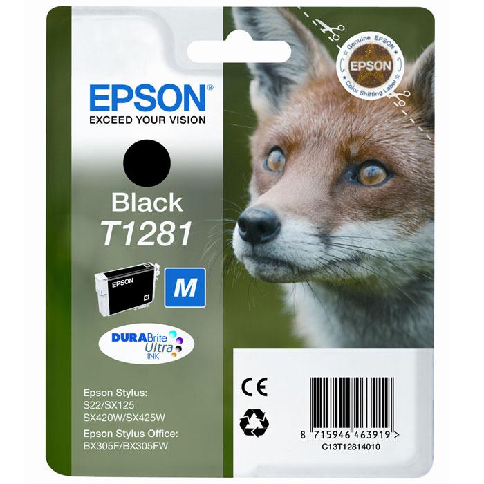 Epson T1281 (C13T12814010), Black картридж для S22/SX125/SX425/BX305C13T12814011Картридж Epson с чернилами для струйной печати.