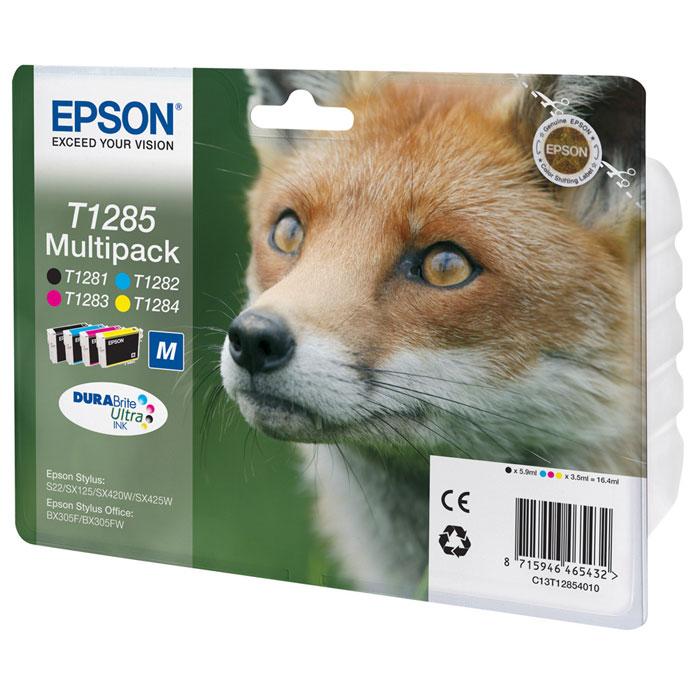 Epson T1285 Multipack (C13T12854010) набор картриджей для S22/SX125/SX425/BX305C13T12854010Экономичный набор Epson MultiPack из 4 картриджей (B,C,M,Y) для струйных принтеров.