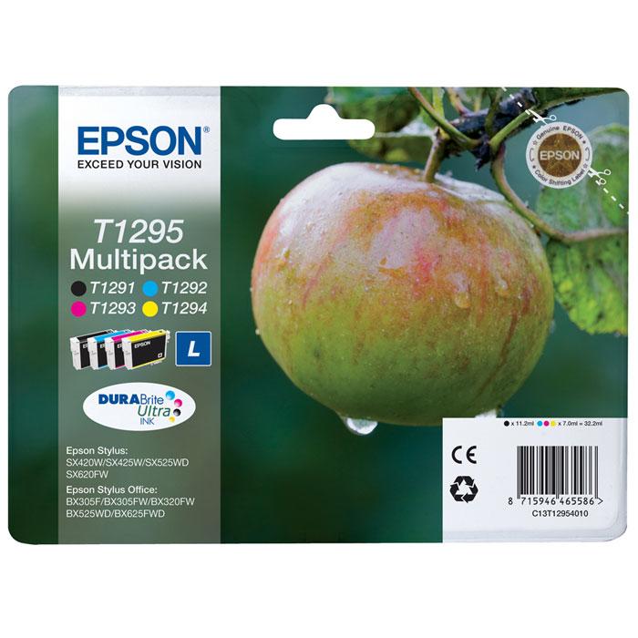 Epson T1295 Multipack (C13T12954010) комплект картриджей для SX425/SX525/BX305/BX320/BX625C13T12954010Экономичный набор из 4 картриджей повышенной емкостиEpson C13T12954010 MultiPack (B,C,M,Y).