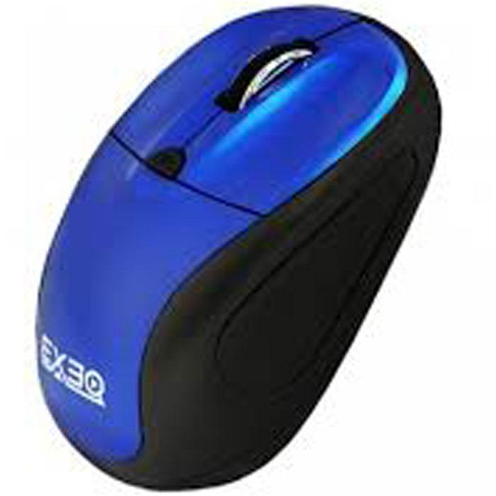 EXEQ MM-405, Blue беспроводная мышьMM-405Exeq MM-405 – беспроводная компактная мышь с элегантным дизайном! Специальная конструкция устройства обеспечивает минимальную нагрузку на кисти рук даже при самом активном использовании. А благодаря универсальному корпусу работать с мышью можно как левой, так и правой рукой. Дополняет удачную конструкцию Exeq MM-405 элегантный дизайн: рельефные боковины из матового пластика и глянцевая верхняя поверхность мыши в двух цветовых решениях – красный и синий.Наличие кнопки переключения разрешения поможет изменить разрешение в зависимости от выполняемых задач и разрешения монитора. Миниатюрный USB-приемник позволит подключить его один раз и больше не вынимать – удобные размеры не позволят ему сломаться или потеряться при перемещении устройства.Компактные размеры мыши Exeq MM-405 позволят ей удачно дополнить работу как ноутбука в дороге, так и обычного ПК в офисе.