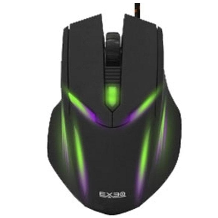 EXEQ MM-502, Black игровая мышьMM-502Exeq MM-502 - игровая мышь с удачным сочетанием эргономики, надежного функционала и стильного дизайна! Черный стильный корпус манипулятора удачно дополнен специальным «мягким пластиком» Soft-Touch, который не только обеспечивает прекрасные тактильные ощущения, но и позволяет пальцам не скользить по кнопкам даже во время самых жарких поединков. Специальные выступы по бокам корпуса мыши станут надежной опорой для пальцев. Щитовая панель в задней части корпуса послужит идеальной точкой опоры для всей ладони, увеличивая тем самым эффективность манипуляций и снимая напряжение. Функционал Exeq MM-502 представлен высокоточным оптическим сенсором, обеспечивающим высокую стабильность работы курсора. Чувствительность мыши настраивается кнопкой смены разрешения, расположенной непосредственно на корпусе мыши. Переключать разрешение можно непосредственно в процессе игры. Дополняют функционал мыши и две боковые кнопки. Провод Exeq MM-502 надежно защищен тканевой оплеткой, а примерно в трех сантиметрах от штекера расположен ферритовый фильтр.