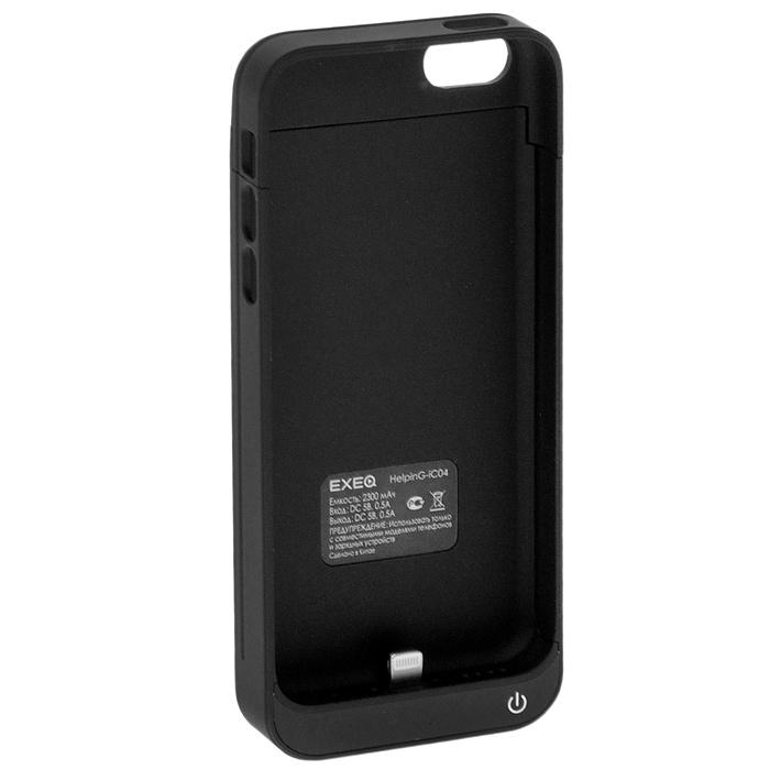 EXEQ HelpinG-iC04 чехол-аккумулятор для iPhone 5/5s/5c, Black (2300 мАч, клип-кейс)HelpinG-iC04 BLЧехол EXEQ HelpinG-iC04 не только надежно защитить ваш смартфон, но и прекрасно подойдет к цветовой гамме корпуса смартфона. Кроме яркой цветовой гаммы EXEQ HelpinG-iС04 также имеет компактный и эргономичный дизайн, благодаря которому его присоединение к смартфону практически не повлияет на габариты последнего. Но самое главное, благодаря чехлу-аккумулятору ваш iPhone сможет работать в два раза дольше! Привлекательный дизайн, компактные габариты и увеличение автономной работы телефона – что еще нужно для идеального аксессуара к вашему смартфону?Зарядка аккумулятора чехла происходит от зарядного устройства телефона и при этом телефон не обязательно извлекать из чехла. Достаточно просто подключить зарядное к чехлу и нажать на кнопку питания на чехле – и начнется зарядка телефона. Если кнопку питания не нажимать, то начнется зарядка чехла-аккумулятора. Приятным дополнением чехла EXEQ HelpinG-iС04 также является наличие встроенной подставки, которая сможет поддерживать ваш смартфон в горизонтальном положении, например, для просмотра фильма или чтения электронных книг.