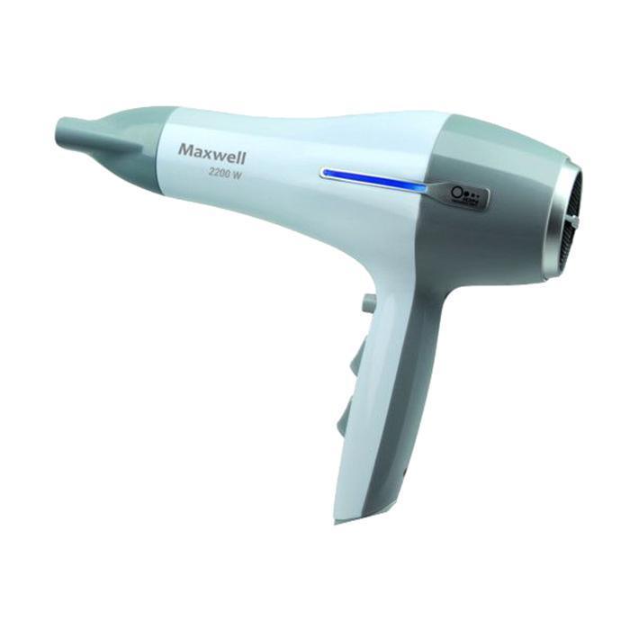 Maxwell MW-2023(GY) фенMW-2023(GY)Быстро высушить волосы, придать им необходимый объем или создать оригинальную прическу вам поможет фен MAXWELL MW-2023 GY. Одновременно с 6-ю режимами работы, независимой регулировкой интенсивности подачи воздуха и его нагрева фен оснащен важной функцией ионизация. Благодаря данной опции в процессе сушки ваши волосы не пересушиваются, сохраняя оптимальный уровень влажности. Именно поэтому даже длительное и ежедневное использование фена не будет наносить вреда вашим волосам, сохраняя их здоровье и природную красоту. Данный фен максимально прост в эксплуатации, в чем вы легко убедитесь сами.
