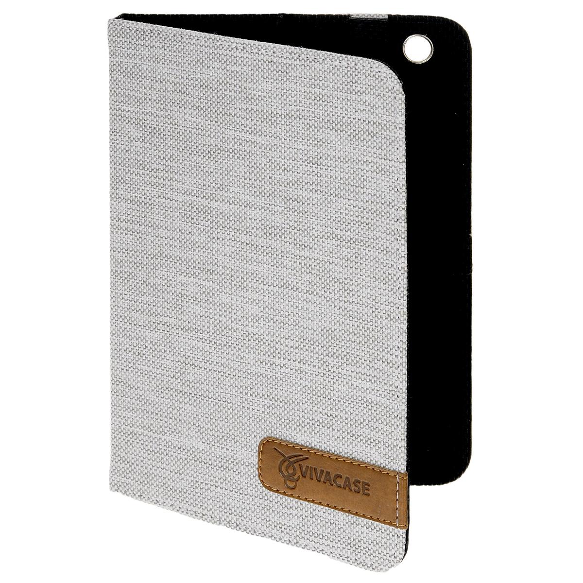 Vivacase Jacquard текстильный чехол-обложка для iPad mini, White (VAP-AMJ001-w)VAP-AMJ001-Текстильный чехол для iPad mini из изготовлен из ткани стильной расцветки и не только защищает планшет от царапин и повреждений, но и служит элементом, дополняющим стиль его владельца.Внутри чехла, отделанного мягкой подкладкой, iPad mini плотно крепится при помощи магнитных уголков, которые не только фиксируют планшет, но и удерживают крышку закрытой. Задняя сторона обложки имеет центральный сгиб, с помощью которого чехол можно использовать как подставку для комфортного чтения или просмотра видео.Установить планшет можно под двумя углами, уперев его в один из плотных ярлычков на передней части обложки.Все кнопки и разъемы планшета остаются открытыми, доступ к экрану ничем не ограничен. Вам не придется вынимать планшет из чехла даже для того, чтобы сделать снимок основной камерой – специально для нее в обложке проделано аккуратное отверстие.
