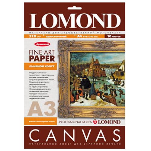 Lomond Natural Canvas Pigment Archive 320/A3/20л натуральный холст для пигментных чернил -  Бумага для печати