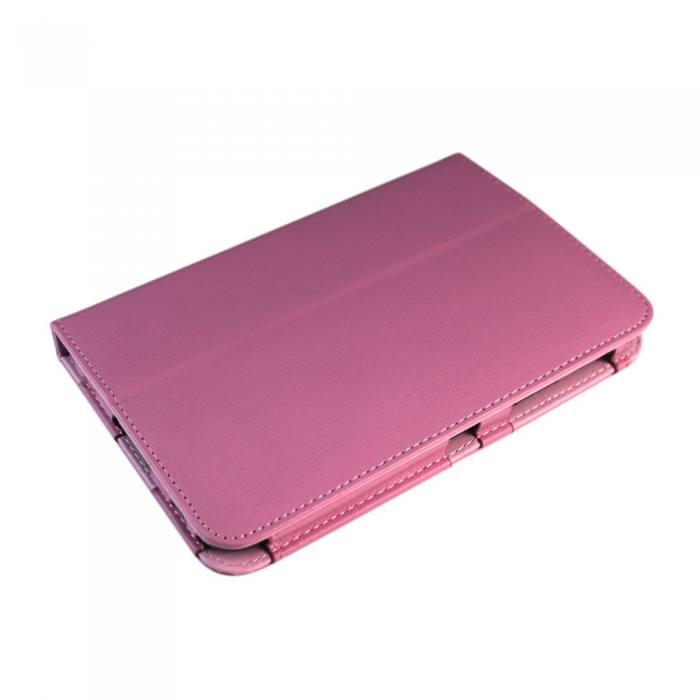 IT Baggage чехол для Samsung Galaxy Tab 2 7.0, PinkITSSGT7202-3IT Baggage для Samsung Galaxy Tab 2 7.0 - чехол-книжка с возможностью фиксации в горизонтальном положении.Предназначен для планшета Samsung P3100/3110, но можно использовать и для предыдущей модели P6200/6210.Обложка хорошо защищает поверхность экрана от механического повреждения, пыли или грязи. Даже при частомиспользовании в нём вашего планшетного компьютера, его хватит на несколько лет.Чехол выполнен из искусственной кожи с внутренней отделкой из текстиля с бархатистой фактурой. Фиксация на резинку не предусмотрена.