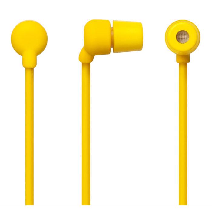 Aiaiai Swirl Earphone, Yellow наушники с микрофоном4805Наушникис микрофоном Swirl Earphone от датской компании AIAIAI отличаются своей прочностью и долговечностью. Благодаря своей надежной конструкции подходят для повседневного использования. Шнур этих наушников сделан из меди высокой проводимости без вплетения капрона, который обычно используют почти все известные бренды для удешевления и экономии при производстве, что вкупе с устойчивым к коррозии штепселем, предотвращает появление искажений звука и помех, а обволакивающие силиконовое волокно защищает от различных воздействий окружающей среды. Подходит для iPod, iPhone, любых других MP3-плееров и мобильных аудиоустройств.