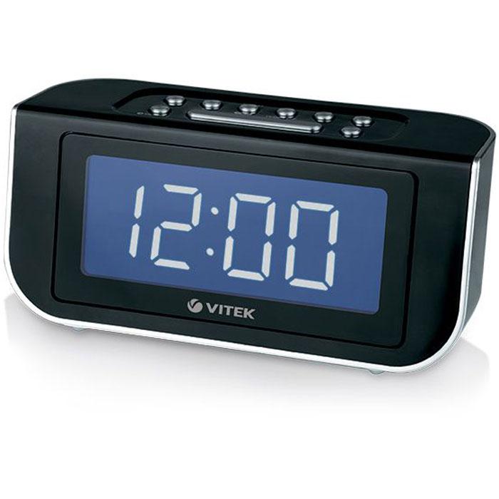 Vitek VT-3521 (ВК) радиочасыVT-3521(ВК)Легко вставать по утрам и слушать любимые радиостанции вам позволят функциональные радиочасы Vitek VT-3521 BK. Компактное устройство оснащено удобными кнопками настройки частоты, которые позволят выбрать нужную станцию с большой точностью. Кроме того, благодаря цифровому тюнеру можно записать в память до 10 настроек FM– станций: теперь вам не придется долго искать любимые радиостанции. Для вашего удобства текущая дата и комнатная температура отображаются либо при нажатии соответствующих кнопок, либо при включении автоматического режима прокрутки (по 2-3 сек. время, дата, температура). Встроенный календарь позволяет настраивать будильник на разное время по различным дням недели.Кнопка короткого снаМощность: 5 ВтРазмер дисплея: 1.8 дюймТаймер отключенияЦифровой тюнерЦвет символов дисплея: белыйLED - дисплей с 2 уровнями подсветки