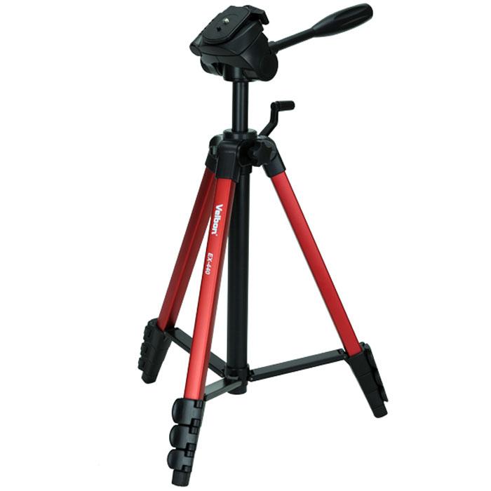 Velbon EX-440, Red штативEX-440 REDШтатив Velbon EX-440 для фото, видеокамер. Имеет устойчивые ножки и сменную площадку.