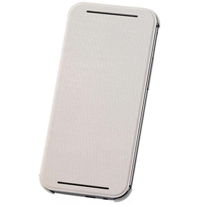 HTC HC V980 чехол для One E8 (Ace), White22339Жесткий чехол HTC HC V980 для смартфона One E8 Dual Sim.Чехол изготовлен из пластика с отгибающейся крышкой, с магнитом для автовключения экрана.