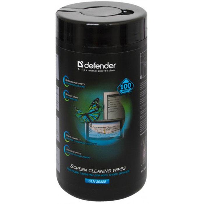 Defender CLN30320 салфетки чистящие для экранов в тубе (100 шт.)30320Чистящие салфетки Defender CLN30320, пропитанные специальным составом, предназначены для эффективного и мягкого ухода за экранами всех видов: ЭЛТ, ЖК, плазменными панелями, а также стеклянными частями сканеров и копировальных аппаратов.Они удаляют загрязнения различного происхождения, снимают статическое электричество, не оставляют разводов.Чистящие салфетки Defender 30320 входят в линейку экономичных чистящих средств Defender Eсo, оптимально подходящих для ухода за компьютером и техникой в домашних условиях. Сочетание высококачественного материала салфеток и специально разработанного российскими химиками чистящего состава позволяют достичь моментального эффекта с минимальными усилиями.Размер салфетки: 170 х 125 ммПлотность материала: 21 г/м2Состав: нетканый материал на основе вискозы смесовой термобонд, пропитывающий раствор (содержит антистатическую добавку). без отдушки