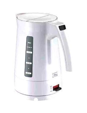 Melitta Enjoy Aqua 2011, White электрочайникEnjoy Aqua WhiteЭлектрический чайник Melitta Enjoy Aqua 2011 с функцией автоматического отключения при закипании воды имеет съемный моющийся фильтр от накипи и нескользящее основание с отсеком для хранения шнура, а благодаря стильному исполнению станет отличным дополнением на вашей кухне.Melitta — известная немецкая компания, производитель фильтров для кофе, аксессуаров для кофеварения, фильтр-пылесборников для пылесосов, всего, что связанно с кофе и чаем, а также большого ассортимента продуктов по уходу за домом. Электрочайники Melitta — это современный высококачественный дизайн и простота в обращении. Дисплей для определения уровня воды и возможность регулировать температуру выключения позволят приготовить именно такой чай, какой вы любите.
