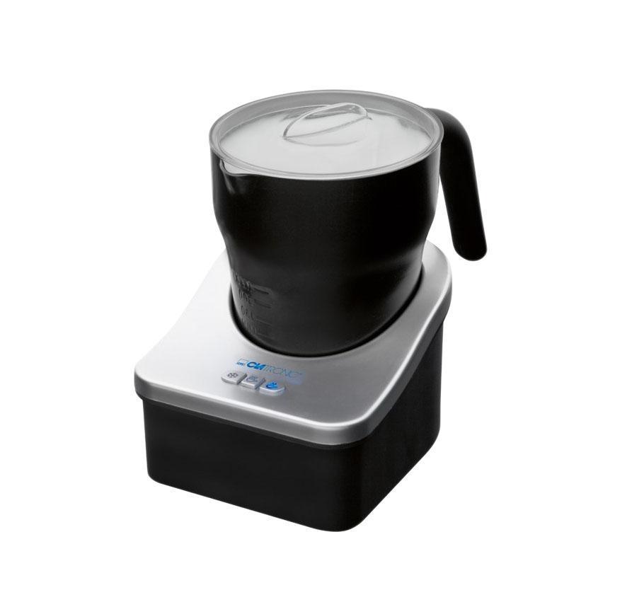 Clatronic MS 3326, Black пеновзбивательMS 3326, BlackПенообразователь Clatronic MS 3326 имеет встроенную функцию подогрева, бескабельный дизайн и возможность вращения на 360°. Вспенивает молоко за секунды. Подходит также для горячего и холодного шоколадаАвтоматическое отключениеМиска и крышка - съёмные для облегчения чисткиАнтипригарное покрытиеТри переключателя: теплое вспениваемое молоко, холодное вспениваемое молоко (идеально подходит для кофе со льдом), теплое молоко