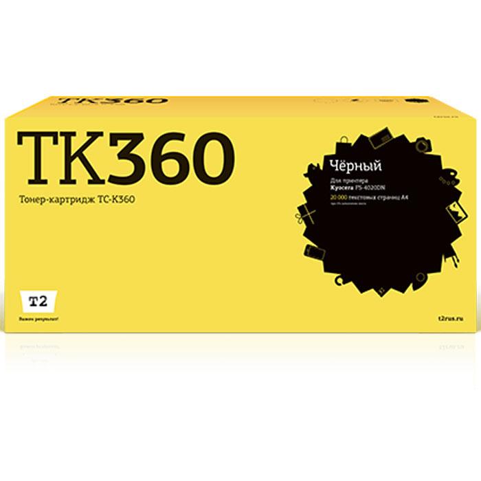 T2 TC-K360 тонер-картридж для Kyocera FS-4020DNTC-K360Картридж T2 TC-K360 собран из дорогих японских комплектующих, протестирован по стандартам STMC и ISO. С каждого картриджа на заводе делаются тестовые отпечатки. Для каждой модели картриджа подобраны оптимальные чернила или тонер и фотобарабан. Каждая новая модель проходит умопомрачительно тщательную проверку на градиенты, фантомные изображения, ровность заливки и общее качество картинки.
