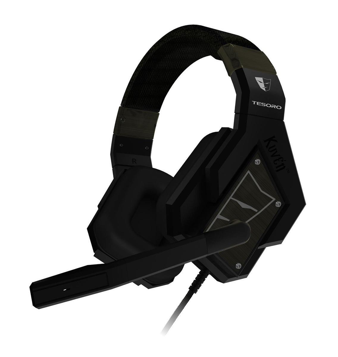Tesoro Kuven 7.1 Devil TS-A1, Blackпроводная гарнитураKuven 7.1 Devil TS-A1 BlackПрофессиональная игровая гарнитура Tesoro Kuven 7.1 - это результат долгих исследований геймерских пристрастий и требований. Они совмещают в себе всё необходимое: виртуализированный звук 7.1, мощные 50-мм динамики, закрытые чашки со съёмными шумопоглощающими амбушюрами, контроллер звука, высококачественный микрофон и стильный внешний вид.Данная модель обладает чистейшим звучанием и обеспечивают превосходную слышимость во время игры. Благодаря продвинутой технологии виртуализации объёмного звука, вы сможете быть готовым к столкновению с самым осторожным противником, потому что будете слышать его задолго до того, как он сможет вас увидеть.Благодаря виртуализированному звуку 7.1 вы сможете точно определять местоположение ваших противников и составлять наиболее полную картину боя.50-мм динамики обеспечивают мощное, чистое звучание, благодаря которому погружение в игру будет максимально глубоким. Закрытый тип наушников и плотные амбушюры позволят сосредоточиться на игре и не позволят внешним шумам отвлекать вас от игры. Держатели динамиков свободно вращаются, что позволяет амбушюрам плотно прилегать к голове и обеспечивает максимальный комфорт.Наушники оборудованы пультом управления, который позволяет регулировать громкость и отключать микрофон.Гарнитуру можно подключить через USB, стандартные 3,5-мм разъемы или через один универсальный мини-джек.