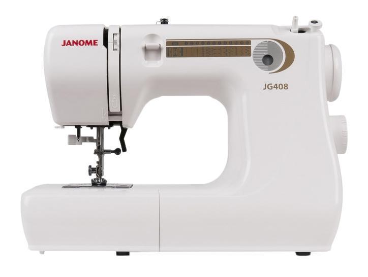 Janome JG408 швейная машинаJG408Простая в использовании компактная швейная минимашина, идеально подходит для начинающих. Хорошо работает с разными видами тканей.Отличительные особенности:Электромеханическая швейная машина13 швейных операцийпрямая строчказигзагэластичный зигзагпотайные строчкитрикотажная строчкаоверлочная строчкапетля-полуавтоматМаксимальная длина стежка - 4 ммМаксимальная ширина зигзага - 5 ммРегулятор натяжения верхней нитиГоризонтальный челнокРычаг обратного ходаЛегко пристегивающаяся лапкаДополнительный подъем лапкиВстроенный нитеобрезательВстроенный нитевдевательСвободный рукавОтсек для хранения аксессуаровГарантийный срок 2 годаПроизводство Таиланд