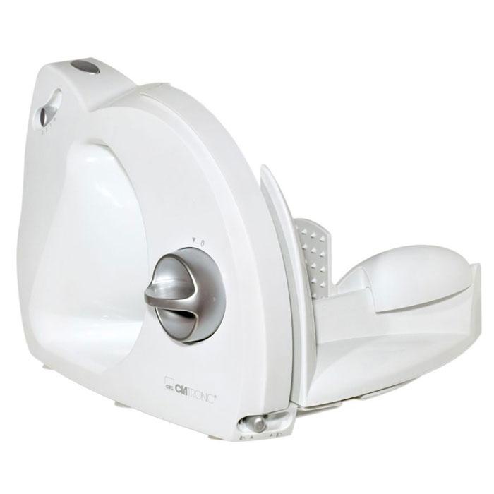 Clatronic AS 2958, White ломтерезкаAS 2958 whiteЛомтерезка Clatronic AS 2958 поможет быстро порезать продукты аккуратными ровными ломтиками. Бытовой прибор оснащен функцией бесступенчатой установки толщины резания от 0 до 15 мм. Идеально подходит как для домашних условий так и для кафе, баров, ресторанов и т.д.Мощный двигательСкладывающийся для хранения корпусСпециальный нож из нержавеющей стали3-ступенчатый переключатель скоростиДержатель продукта с защитой от защемления пальцевНескользящие ножки
