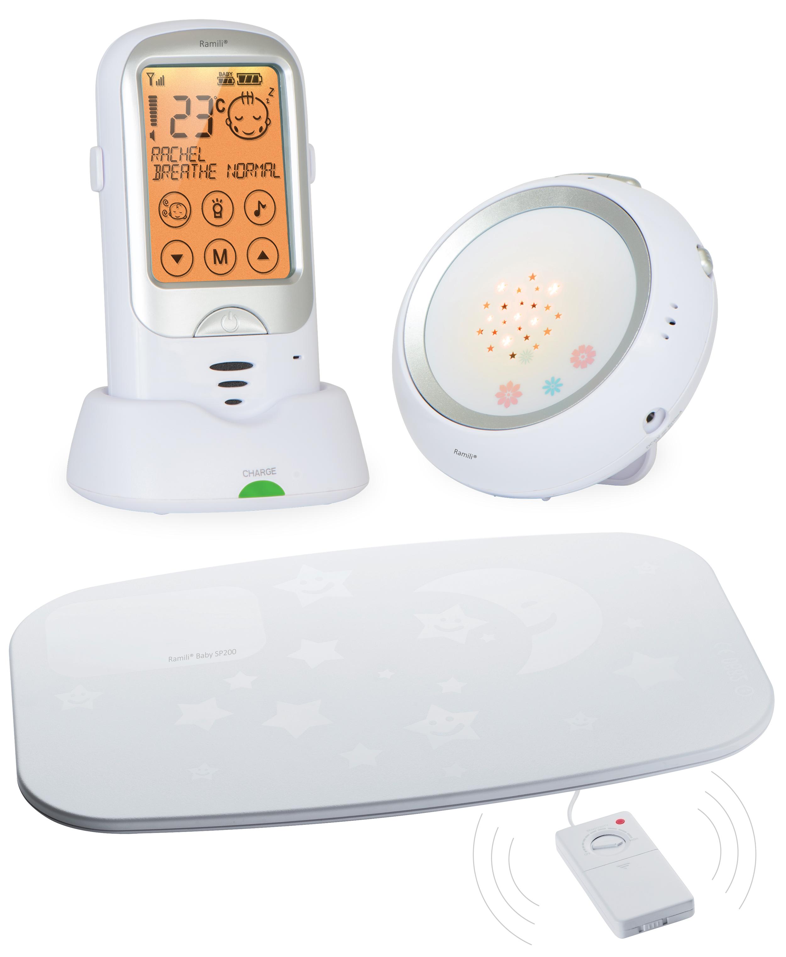 Радионяня работает на современной технологии передачи данных на расстоянии до 650 метров и оснащена системой подавления помех. Кристально чистый звук и высокая степень надежности и безопасности - главные особенности радионяни-монитора дыхания Ramili Baby. Радионяня оснащена всеми необходимыми для родителей функциями, которые помогают молодым родителям в повседневном уходе за ребенком: сенсорный дисплей; двухсторонняя связь; термометр; замечательный проекционный ночничок; возможность работы всех блоков радионяни без розетки; интуитивно понятное русифицированное меню, а также другие функции и особенности, которые позволяют родителям быть уверенными в том, что малыш находится под непрерывным контролем этой замечательной радионяни. Монитор дыхания Ramili Movement Sensor Pad SP200 (входит в комплект) располагается под матрасиком в детской кроватке и представляет собой коврик, в который встроены датчики, улавливающие даже очень слабое движение, вызываемое...