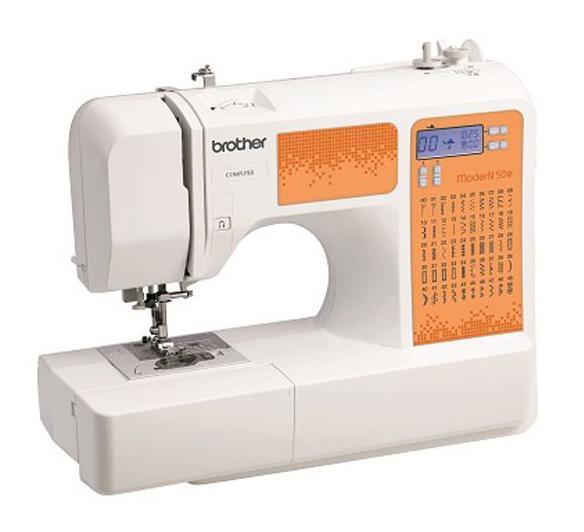 Brother ModerN 50EModerN 50Eомпьютеризованные швейные машины серии ModerN позволяют работать с тканями различной толщины и фактуры (от тончайшего шелка до джинсовой ткани). Широкий выбор строчек, несколько видов петель и автоматическая заправка нити помогут превратить работу в удовольствие, а на ЖК-дисплее всегда можно увидеть длину стежка, ширину строчки и тип прижимной лапки.