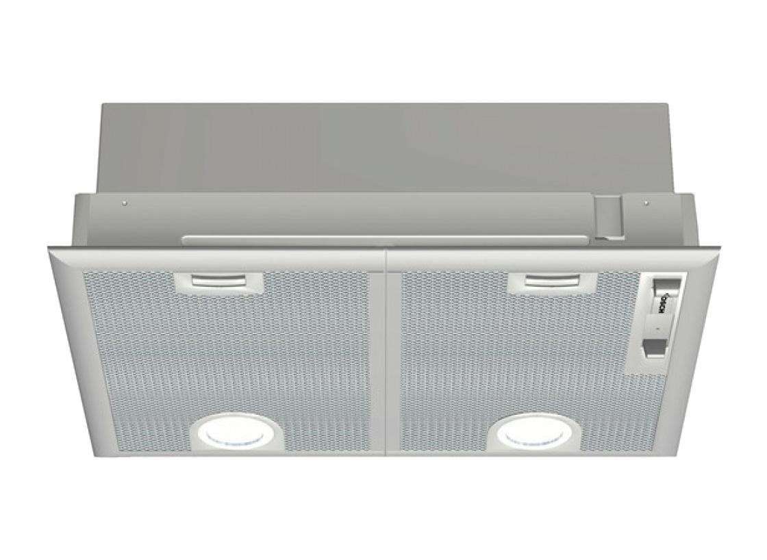 Bosch DHL 545 S 53 IX вытяжкаDHL 545 S 53 IXВытяжка встраиваемого типа Bosch DHL 545 S 53 IX рассчитана на полновстраиваемый монтаж в подвесной шкаф. Одной из главных особенностей является изменяемый функционал устройства: она осуществляет работу в режимах отвода или рециркуляции воздуха. Максимальная производительность составляет 500 м3/ч, с 3 регулировками скорости и интенсивным режимом.