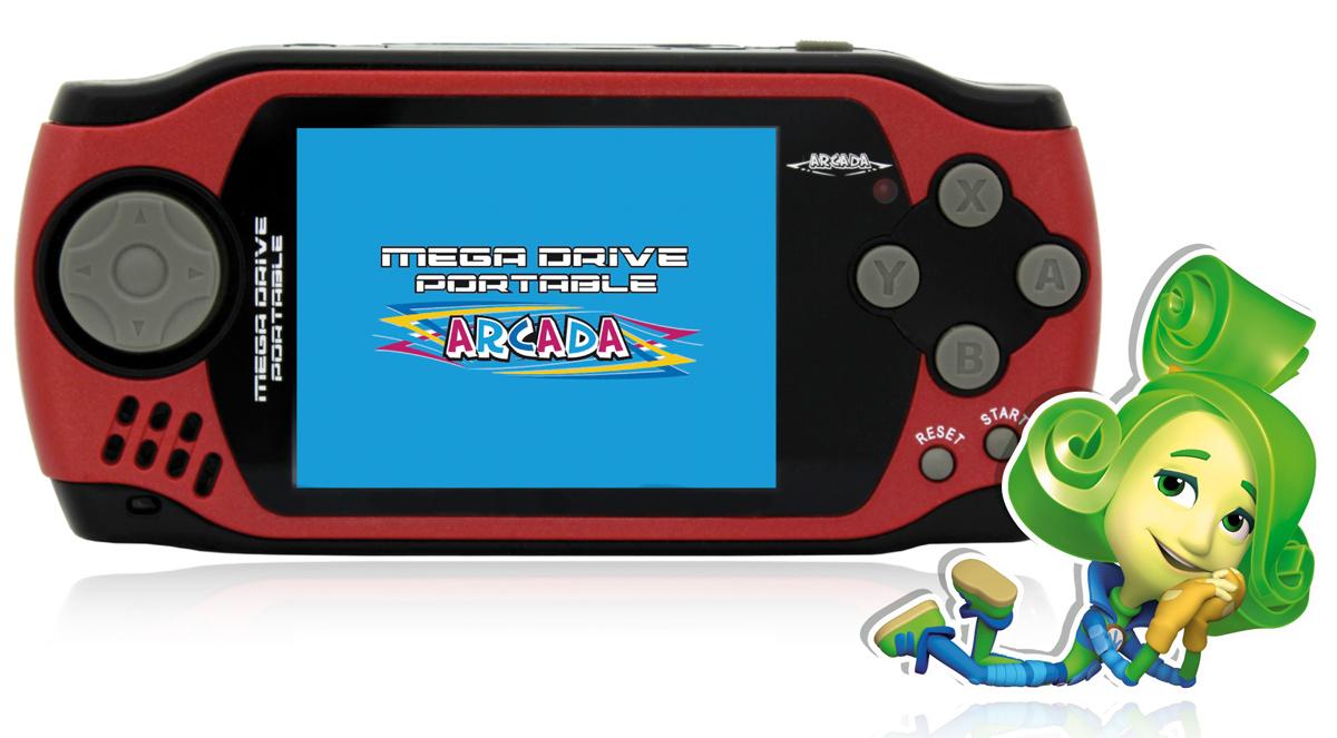 Игровая ФикСиПриставка Arcada 3 (105 игр), RedVG-1629 FXИгровая ФикСиПриставка Arcada 3 - яркое игровое устройство из серии 16-битных портативных приставок с экраном 3 дюйма и 105 встроенными играми - отличный отдых и развлечение для всей семьи дома и в дороге! Оформлено устройство в стиле популярного мультсериала «Фиксики». Эргономичная форма корпуса:Игровая ФикСиПриставка Arcada 3 выполнена из специального ударопрочного пластика, а также имеет удобную эргономичную форму корпуса. Приставка имеет четырёхпазный джойстик слева, который обычно используются для движения, и шесть функциональных кнопок справа. Кнопки выполнены из удобного мягкого пластика. Удачное расположение кнопок и эргономичный дизайн корпуса позволяют Фикси-приставке удобно помещаться в руках и не напрягать кисти рук даже во время самых длительных игровых баталий.Бонус в 105 игр:В памяти игровой ФикСиПриставка Arcada 3 находится коллекция из 105 самых популярных видеоигр 16-битного геймплея. Важной особенностью коллекции игр Фикси-приставки является то, что в ней собраны не только простые игры для приятного времяпрепровождения детей и взрослых, но и специальные логические игры, которые тренируют память, развивают смекалку, быстроту реакции и конечно влияют на мелкую моторику рук. Список встроенных игр из коллекции игровой ФикСиПриставка Arcada 3 представлен в разделе Поддержка. Для ценителей хорошей графики:Игровая ФикСиПриставка Arcada 3 обладает трехдюймовым экраном с разрешением 320х240 точек. Дисплей выполнен по технологии CSTN (Color Super Twist Nematic), что обеспечивает поистине потрясающую яркость и контрастность - ощутите всю красочность и неповторимость графики Ваших самых любимых игр. Также приставка оборудована AV-выходом, благодаря чему устройство можно подключить к телевизору и проходить любимые игры на большом экране и навсегда забыть о стационарных консолях огромных размеров.Приятные дополнения:Если играть понемногу каждый день, полного уровня батареи хватит на неделю использования. В