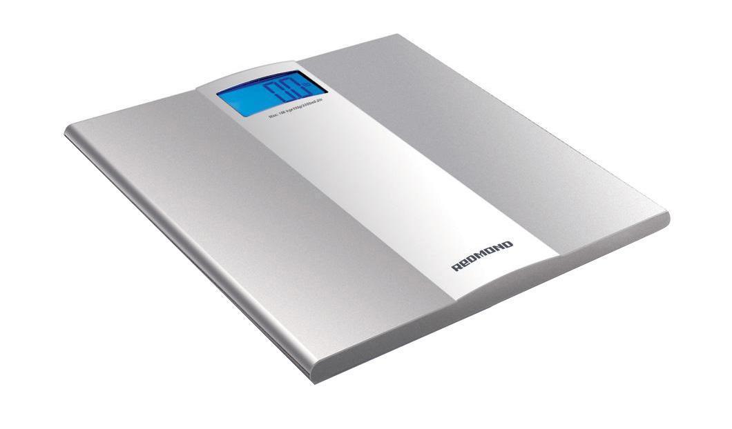 Redmond RS-710, SilverRS-710 SilverПередовые технологии точного взвешивания – отличительная черта напольных весов REDMOND RS-710. 4 высокочувствительных датчика обеспечивают точность измерения до 50 г. Значение измерений отражается на ЖК-дисплее, снабженном яркой подсветкой. Весы снабжены удобной индикацией низкого заряда батареи, а также автоматическим включением и выключением. Вы можете выбрать единицы измерения: килограммы, фунты или стоуны.