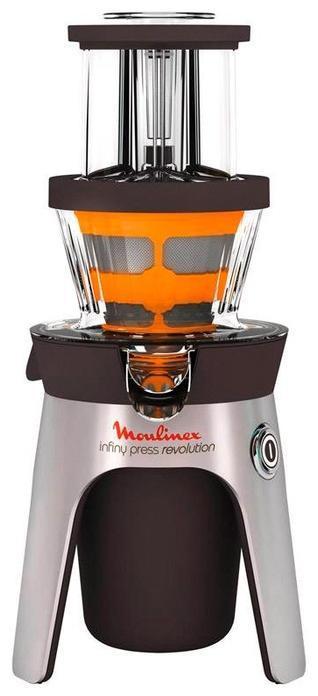 Moulinex ZU 5008 соковыжималкаInfiny Press Revolution ZU 5008Moulinex ZU5008 – соковыжималка, которая каждый день будет радовать вас свежевыжатыми соками из любых фруктов, овощей и ягод. Представленная модель очень проста в использовании. Мякоть отбрасывается автоматически, а сок напрямую подается в специальный стакан. Особенность этой модели – инновационная конструкция. Три загрузочных отверстия и два фильтра позволяют готовить сок сразу из нескольких продуктов, например для смузи, и не мыть соковыжималку! Оригинальный дизайн модели сделает ее украшением любой кухни.