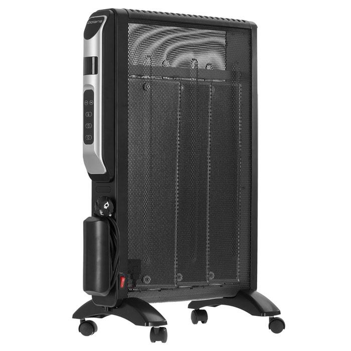 Polaris PMH 1596RCD микатермический обогревательPMH 1596RCDСовременный обогреватель Polaris PMH 1596RCD оснащен микатермическим нагревательным элементом мощностью 1500 Вт, который практически не подвержен износу. Нагревательный элемент состоит из слоев пластин, покрытых несколькими слоями слюды. Обогреватель способен автоматически поддерживать заданную температуру а также имеет встроенный таймер на максимальное время 18 часов и пульт ДУ. Конструкцией предусмотрено 2 типа обогрева: конвекционный и тепловолновой. Доступна регулировка мощности и температуры. Прибор обеспечивает быстрый прогрев помещения после включения, не сжигает кислород и не сушит воздух, при этом экономит электроэнергию. Обогреватель полностью безопасен в эксплуатации, так как имеет защиту от перегрева и автоматически отключается при опрокидывании.