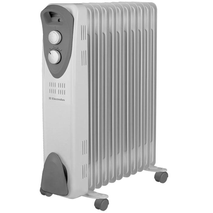Electrolux 3221M/EOH масляный обогревательEOH/M-3221Electrolux EOH/M-3221 – компактный масляный радиатор с удобным управлением. Он снабжен высоконадежным термостатом и обладает защитой от перегрева и опрокидывания. В качестве наполнителя Electrolux 3221M/EOH используется экологичное масло HD-300, проходящее многоступенчатую систему очистки. Благодаря улучшенному конструктиву внутренних секций, масляные радиаторы Electrolux работают бесшумно.