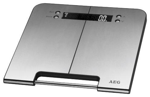 AEG PW 5570 FA Inox, 5 in 1 напольные весыPW 5570 FAAEG PW 5570 FA Inox, 5 in 1 - диагностические напольные весы с платформой из нержавеющей стали. Особенности: Память до 10 пользователейЕдиницы измерения: кг, lb, stОпределение доли воды: 20-75%Определение доли жировой ткани: 1-60%Определение доли мышечной ткани: 10-50%Высококачественный дисплей большой четкостиАвтоматическое включение при наступании и автоматическое отключениеНескользящие ножки, ручка для переноски