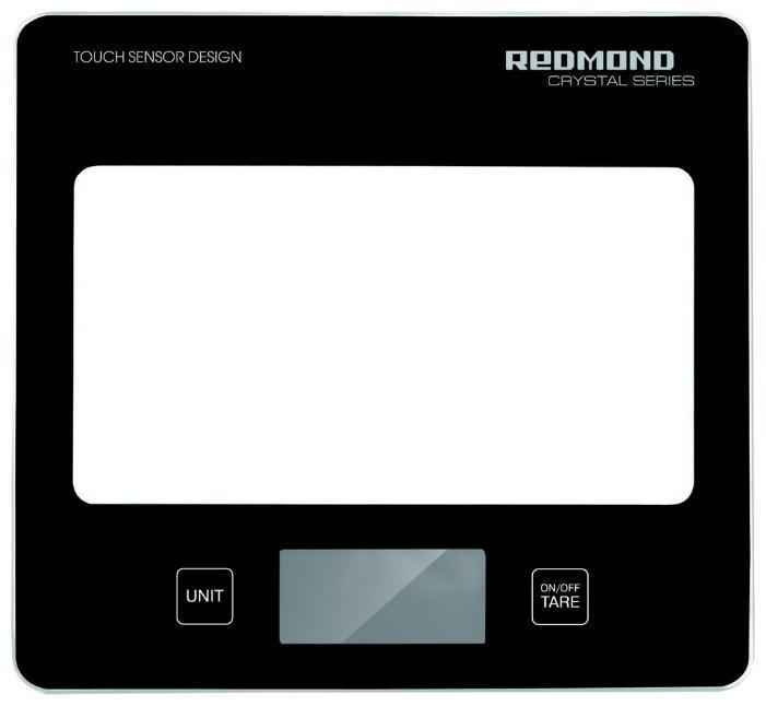 Redmond RS-724, Black весы кухонныеRS-724 blackОщутите передовые технологии точного взвешивания вместе с кухонными весами REDMOND RS-724 модельной линейки CRISTAL SERIES. Прибор измеряет вес продукта до 5 кг с точностью до 1 г. Значения измерений выводятся на ЖК-дисплее, снабженном индикацией низкого уровня заряда элемента питания. Вы непременно оцените удобство сенсорной панели электронного управления и элегантный дизайн этих весов.