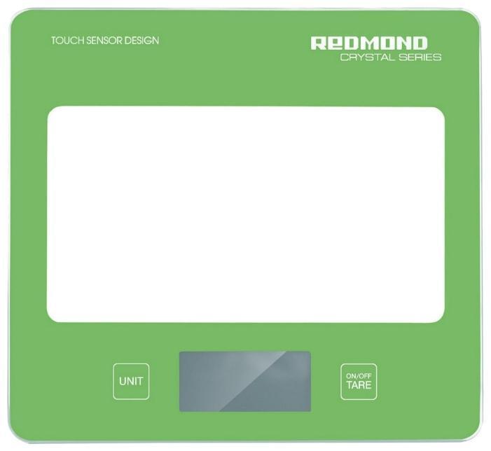 Redmond RS-724, Green весы кухонныеRS-724 greenОщутите передовые технологии точного взвешивания вместе с кухонными весами REDMOND RS-724 модельной линейки CRISTAL SERIES. Прибор измеряет вес продукта до 5 кг с точностью до 1 г. Значения измерений выводятся на ЖК-дисплее, снабженном индикацией низкого уровня заряда элемента питания. Вы непременно оцените удобство сенсорной панели электронного управления и элегантный дизайн этих весов.