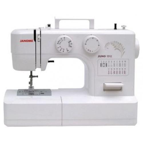 Janome Juno 1512 швейная машина151212 операций, петля-полуавтомат, горизонтальный челнок