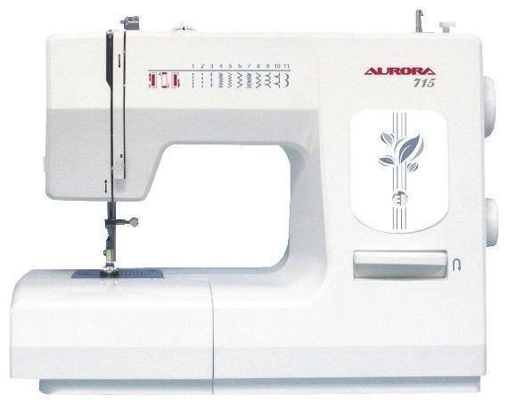 Aurora 715 швейная машина715Размашистая 6-ти зубчатая рейка, высокая мощность двигателя, относительно легкий вес – все эти особенности делают швейную машинку простой, универсальной и надежной. Еще одной не менее важной функцией указанной модификации является возможность снятия платформы, что позволяет работать со сложными изделиями мелких размеров. Швейная машина Aurora 715 укомплектована многочисленными принадлежностями, а именно, лапками, отверткой, масленкой, иглами и др.
