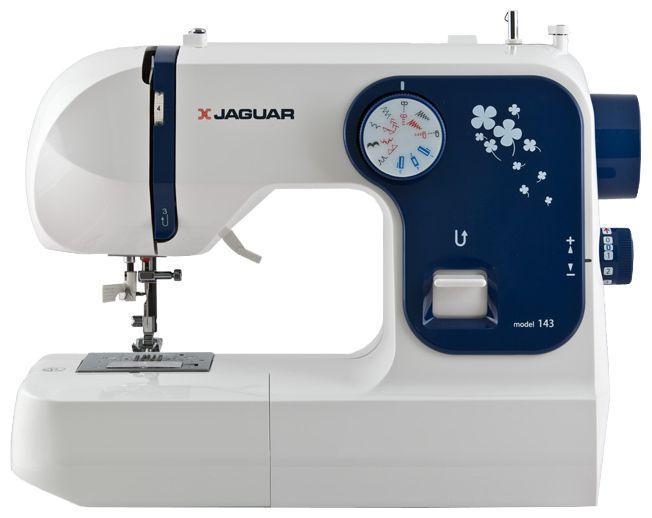Jaguar 143143Jaguar 143 - простая и легкая в работе электромеханическая швейная машина, которая работает с различными видами современных тканей. Она выполняет 18 операций, а подсветка рабочей поверхности позволяет шить быстро и комфортно.