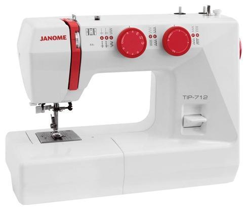 Janome Tip 712 швейная машинаTip 712Швейная машина Janome Tip 712 с вертикальным челноком имеет рукавную платформу, с помощью которой обрабатываются узкие и круглые элементы одежды. Кнопке реверс, быстрая смена лапки и встроенный нитевдеватель обеспечат удобство эксплуатации. Ускоряется или замедляется шитье нажатием на педаль. Машинка оснащена лампой накаливания, способствующей более комфортной работе при плохом освещении. Стандартная комплектация включает все необходимые для шитья аксессуары.