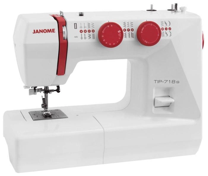 Janome Tip 718s швейная машинаTip 718sШвейная машина имеет улучшенный механизм нитевдевания. Регулирование давления лапки на ткань осуществляется механически. Особенностями машинки Janome Tip 718s являются кнопка реверса, измерение размера пуговицы, возможность пошива двойной иглой, горизонтальный позиционер, автостоп при намотке нити на шпульку, рукавная платформа. Скорость плавно регулируется педалью. С мягким защитным чехлом в комплекте машинка всегда будет в целости и сохранности.