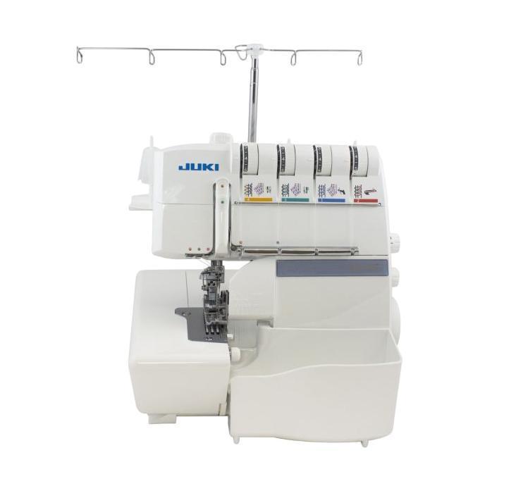 Juki MO 735 оверлокMO735Оверлок Juki MO 735 является современной разработкой компании Juki, которая, непременно, будет оценена по достоинству профессиональными, а также начинающими осваивать швейное дело пользователями. Данная универсальная машина сочетает в себе возможность производить 2/3/4/5-ти ниточную обметку краев тканых изделий.Практичный оверлок Juki MO 735 может предложить швее многообразие различных швов (роликовый, распошивальный, оверлочный шов для одеяла, 4-х обметочный закрепочный, плоский, цепной, 5-ти ниточный широкий, стрейч вподгибку и т.д.). Основная комплектация машины состоит из набора игл, нитевдевателя, ограничителя для катушек, отверток, лапок, пылезащитного чехла, щетки от пыли и др.В оверлоке высочайшего уровня реализованы следующие возможности и опции: специальное устройство, помогающее заправлять нижний петлитель, плавная регулировка ширины шва (обметки), регулировка давления лапки, отключаемый нож и др. Еще одно весомое достоинство машины Juki MO 735 – наличие контейнера (мусоросборника).