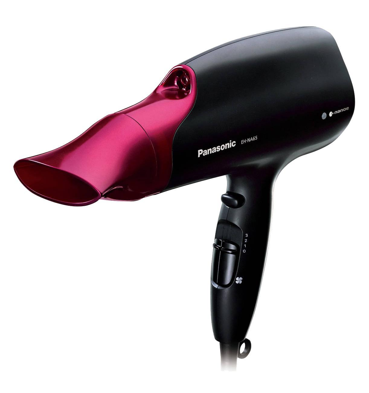 Фен Panasonic EH-NA65-K865EH-NA65-K865Технология nanoeувлажняет поврежденные волосы, способствуя их постепенному восстановлению, увлажняет кожу головы.nanoeсокращает повреждение волос при расчесыванииМошный воздушный потокСушите волосы быстро и легко в домашних условиях благодаря профессиональной мощности воздушного потока.Насадка-концентрат для Quick DryВысокое/Низкое регулируемое давление воздуха расправляет волосы, ускоряя их сушку.