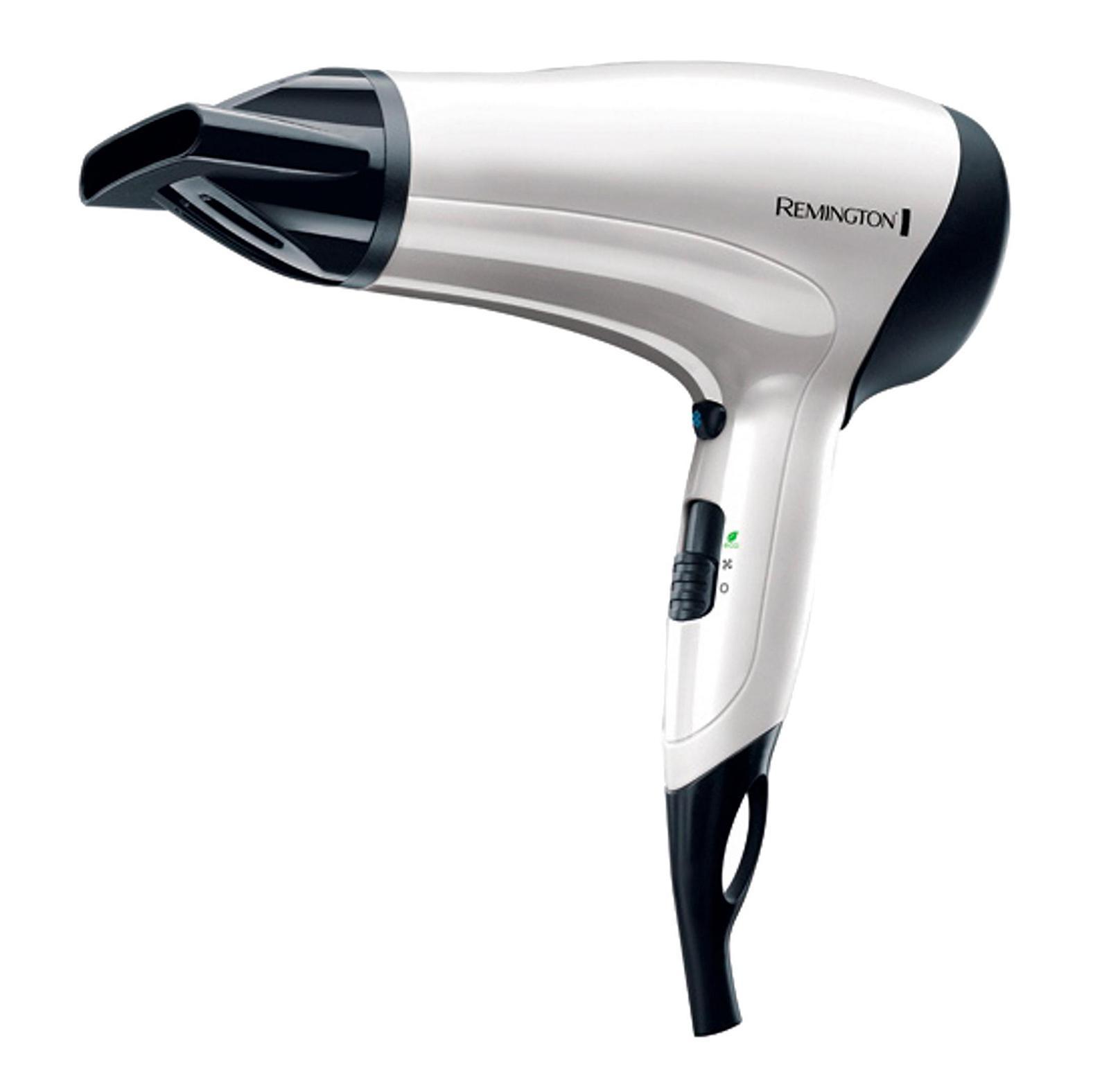 Remington D3015 Power Volume 2000 фенD3015Стильный и функциональный фен Remington D3015 станет прекрасным подарком для каждой современной женщины. С этим прибором Ваши волосы – в полной безопасности! Мощность фена достигает 2000 Вт, что гарантирует быстрое и эффективное высушивание волос любой длины. Тепло распределяется равномерно благодаря специальной решетке, которая изготовлена из усовершенствованной керамики и турмалина. Эффект ионизации позволяет исключить образование статического электричества, а также предотвратить спутывание волос. Современный фен Remington D3015 обладает неограниченной функциональностью. Он оснащен 3 настройками температуры и имеет 2 скорости воздушного потока. Таким образом, Вы легко и быстро подберете именно тот режим, который идеально подходит для Ваших волос. Более того, Remington D3015 позволяет надежно зафиксировать сделанную прическу благодаря специальной функцииобдува холодным воздухом. Фен имеет две насадки: концентратор и диффузор. Насадка-концентратор представляет собой полый цилиндр со сплющенным концом. Она препятствует рассеиванию воздушного потока и направляет струю воздуха непосредственно на волосы, обеспечивая тем самым их быструю сушку. Насадка-диффузор представляет собой своеобразные «пальчики». С помощью этой насадки Вы легко сможете сделать самые разные прически. Сушка волос с использованием диффузора занимает гораздо меньше времени и практически не травмирует их, за счет равномерного распределение воздуха. Стильный фен Remington D3015 оснащен ЭКО-функцией, когда прибор используется в режиме среднего нагрева, сберегая большое количество энергии. Уход за прибором не создаст Вам дополнительных трудностей. Его задняя решетка легко снимается и моется под проточной водой. Современный многофункциональный фен Remington D3015 создан специально для Вас!