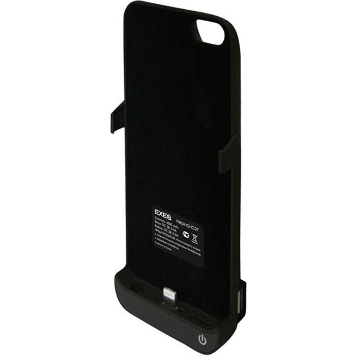 EXEQ HelpinG-iC07 чехол-аккумулятор для iPhone 5/5s, Black (4300 мАч, USB-порт, клип-кейс)HelpinG-iC07 BLExeq HelpinG-iС07 – чехол, оснащенный встроенным аккумулятором, который позволит значительно увеличить часы работы вашего смартфона! Обеспечивая своевременную подзарядку Exeq HelpinG-iC07 также обеспечит и надежную защиту вашему смартфону. Удобный и лаконичный дизайн позволяет не только быстро и удобно помещать телефон в чехол, но и надежно защитить заднюю поверхность телефона от загрязнений и царапин даже во время самой активной эксплуатации устройства. Также мощной батареи чехла-аккумулятора хватит и для подзарядки дополнительных электронных устройств, для чего чехол оснащен USB-портом. Для удобства пользования смартфоном чехол снабжен встроенной подставкой – она позволит надежно закрепить телефон в горизонтальном положении для комфортного просмотра видео, чтения электронных книг или общения по скайпу. Заряжается чехол-аккумулятор Exeq HelpinG-iC07 от зарядного устройства телефона, причем заряжать оба устройства можно не извлекая телефон из чехла. Так для зарядки телефона просто подсоедините зарядное устройства к чехлу и нажмите кнопку питания на чехле, а для зарядки чехла просто подсоедините зарядное устройство к нему.