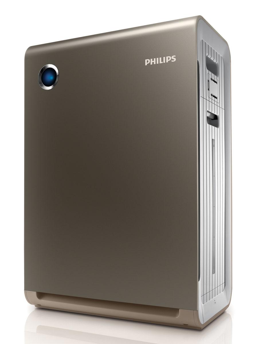 Philips AC4086/01 климатический комплекс 2 в 1AC4086/01Увлажнитель + очиститель воздуха Philips AC4086/01 с профессиональной системой фильтрации и увлажнения воздуха. Подходит для использования в любой комнате площадью до 55 м2.Профессиональная 4-уровневая система фильтрации и увлажняющий фильтр: 1. Фильтр предварительной очистки: улавливает крупные загрязняющие частицы, такие как волосы, шерсть животных, пух, пыль;2. NANO-фильтр: нейтрализует болезнетворные микроорганизмы;3. Угольный фильтр: нейтрализует неприятные запахи и вредныегазы, такие как формальдегид;4. HEPA-фильтр: улавливает мельчайшие загрязняющие частицы;5. Увлажняющий фильтр.Кроме того, в приборе используется специальный умягчитель воды, который нейтрализует действие содержащихся в ней минеральных веществи помогает продлить срок службы увлажняющего фильтра.5 режимов работы включая автоматический, бесшумныйтурбо. Во время работы прибора в автоматическом режиме гигрометр и датчик качества воздуха постоянно контролируют влажность и чистоту воздуха и включают/отключают прибор/ меняют режим работы по необходимости, обеспечивая постоянное поддержание чистоты ивлажности на нужном уровне. Турбо режим - это режим повышенной мощности, который может использоваться для быстрого увлажнения/ очистки воздуха в помещении.Точные настройки уровня влажности:Для достижения максимального комфорта на климатическом комплексе Philips можно установить одну из трех степеней влажности - 40, 50 или 60 %.Индикаторы влажности воздуха:Встроенный гигрометр измеряет влажность воздуха в помещении, а специальные индикаторы на панели управления отражают эти измерения.Цветовой индикатор качества воздуха:4-ступенчатая световая индикация четко отражает качество воздуха в помещении: синий - очень хорошее; фиолетовый - удовлетворительное; темно-фиолетовый - плохое; красный - очень плохое.Индикатор замены фильтров:Специальный индикатор на приборе загорается, когда нужно заменить какой-либо из фильтров, указывая, какой именно. Простой и удобны