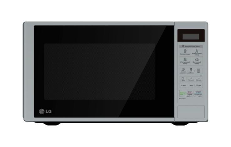 LG MS-2342DS СВЧ-печьMS-2342 DSНовая СВЧ-печь обладает стильным дизайном, благодаря чему впишется в любой кухонный интерьер.