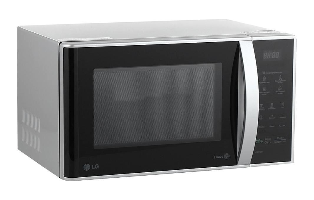 LG MS-2342BS СВЧ-печьMS-2342 BSНовая микроволновая печьс простым электронным управлением значительно облегчит ваши домашние хлопоты. Теперь сможете быстро и вкусно приготовить любое блюдо!СВЧ печь оснащена пятью уровнями мощности излучения, что позволит быстро воплотить в жизни любые кулинарные фантазии. Так же СВЧ печь оснащена таймером на 30 минут для удобного управления. Функция «быстрой разморозки» продуктов значительно экономит ваше время, благодаря чему вы сможете уделить больше времени вашим близким.Стильный лаконичный дизайн СВЧ печки станет прекрасным дополнением вашего кухонного интерьера.